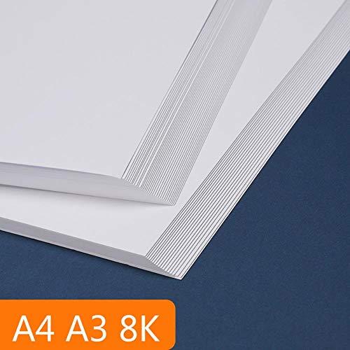 A3 A4 4K weißes Kraftpapier DIY Karte, die 120-350g Craft Papier Dicken Karton Karton Aquarell Sketching Papier Pappe,4K 50sheets,350g