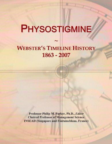 Physostigmine: Webster's Timeline History, 1863 - 2007
