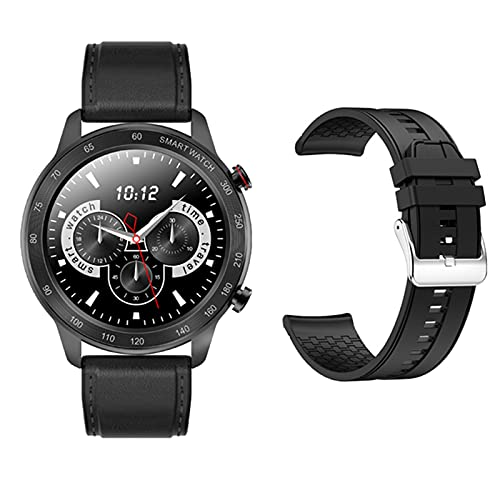LLTG MX5 Smart Watch para Damas Y Hombres, Monitor De Ritmo Cardíaco Bluetooth Call Music Player Pedómetro Teléfono Móvil De Alta Potencia para Android iOS,A