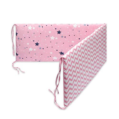 CIB Bumper Wrap Round Protection,Cuna Transpirable de algodón Almohadillas de Parachoques Acolchada Lavable Cuna Conjunto de Forro para bebé,Cuna de bebé Envoltura Alrededor de la protección