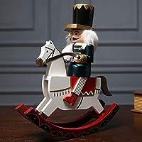 木製くるみ割り人形人形人形ミニ置物クリスマスの装飾おもちゃ子供キッズギフトロンドン兵士モデル家の装飾