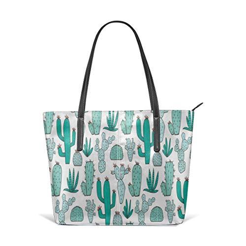 Modische Geldbörsen und Handtaschen für Damen, mit grünem Kakteen-Muster