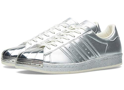 Adidas Superstar 80s Metallic Pack, Silver Metallic-Silver Metallic-Off White, 12