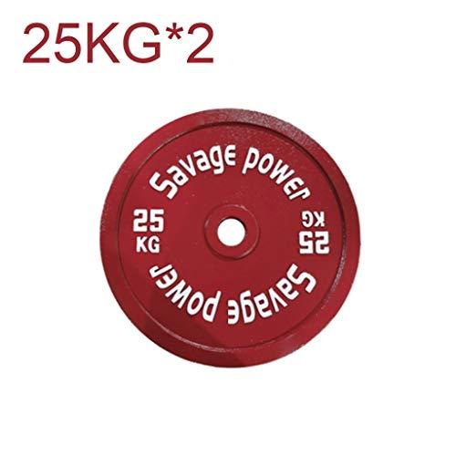 FOTGL Un par de Pesos de Placas de Hierro de Color Barra Mancuernas Peso Pesas Disco emitidos a Favor de Home Fitness Gym Pesas (tamaño : 15kg*2)