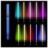 フォースFXライトセーバー11色RGBライトセーバー、ジェダイシスヘビーデュエルLEDライトセーバー、メタルアルミニウムヒルト、USB充電フォースライトセーバーグローイングサウンド,ブルー,39.37in