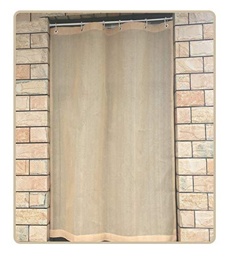 QIANDA Außenrollo Senkrechtmarkise, Hängen Polyethylen Panel Wärmeisoliert Mit Teleskop-Querstange Verdunkelungsvorhang, Breite 85-180cm (Size : 130x160cm)
