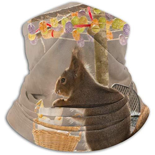 Linger In Halswärmer Schließen Rotes Eichhörnchen unter Regenschirm Eier Schal, Hals Gamasche, Halskappe Halbmaske Sturmhaube Kopfbedeckung