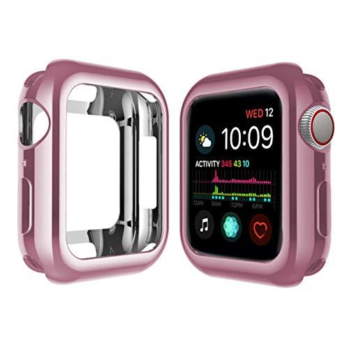Funda de reloj para Apple Watch 6 5 4 40 mm 44 mm chapado protector Tpu delgado suave para Iwatch Series 3 2 1 38 mm 42mm Accesorios