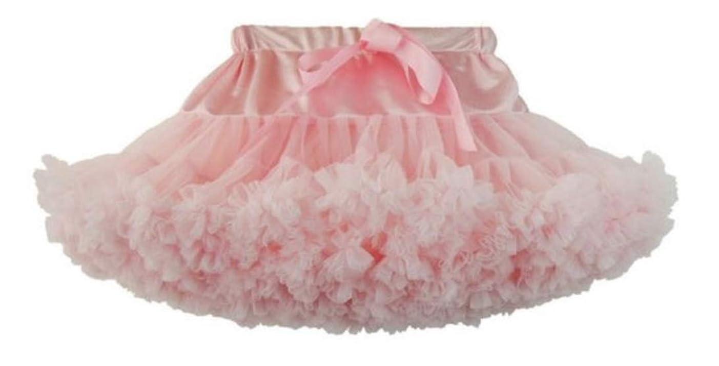協同人工的な投票FU.HRD キッズ コスプレ 女子 チュチュ スカート ダンス衣装 シフォン チュール フリル (ピンク S)