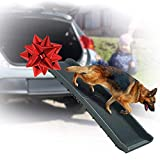 Folding Large Dog Pet Ramp - 62' LONG Portable Foldable Heavy Duty Light Weight, Large Rooms High Beds Sofa Couch Auto Car Truck SUV Indoor Outdoor Ramps For Old Injured Pets Dogs Cats