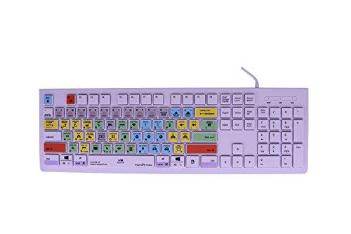 Dogxiong for Adobe Premiere Pro CC Tips Edit Faster Shortcuts Hot Keys USB Keyboard (Work for Mac OSX Mac iMac Pro Mini, MacBook Pro Air, PC Window Desktop Notebook,Cover)