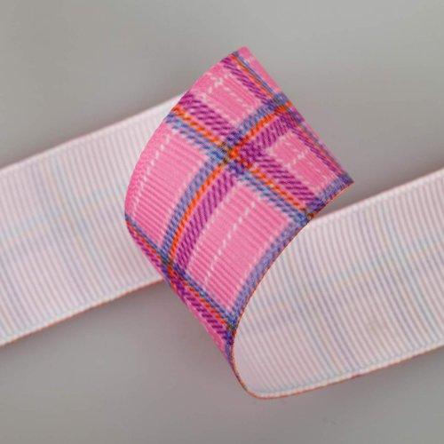 The Yard Neotrims Petersham Paquet de 3 rubans/gros grain en polyester Motif à carreaux 9 m au total