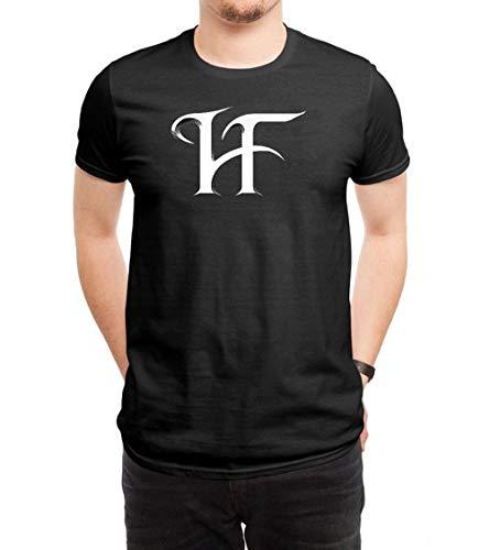 HUANGHUIH Herren HammerFall Logo Cotton Print T-Shirt Top Tee Large