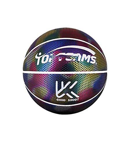SHENAISHIREN El Baloncesto Reflectante, el Baloncesto Iluminado, para el Entrenamiento Interior y al Aire Libre para Dar a los niños a los Juguetes de Regalo Personalizados únicos (Color : A)