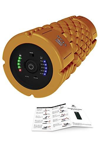 stan フォームローラー 電動 ストレッチ ポール 振動 筋膜リリース トリガーポイント USB (オレンジ, EX)