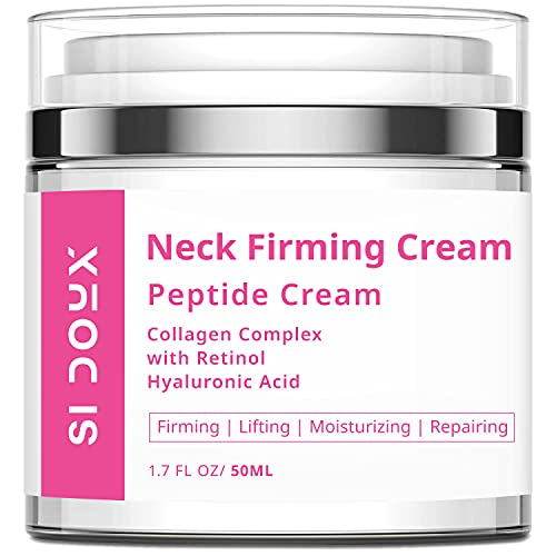 Si Doux Neck Firming Cream – Crepey Skin Treatment, Anti-Aging Tightening Lotion for Decolletage – Retinol, Hyaluronic Acid, Niacinamide Reduce the Appearance of Fine Lines and Wrinkles (1.7 oz)