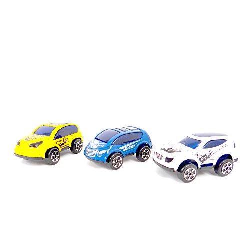 WDK Partner - A1300046 - Véhicules miniatures - 3 voitures métal - Modèle aléatoire