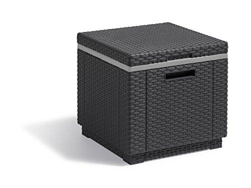 Koll Living Icebox XL, in anthrazit, 42x42x41 cm, Kunststoff, Sitzhocker und bis zu 48 Stunden kalte Getränke in einem, großer Stauraum & leicht zu transportieren