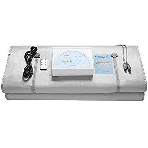 WGIRL Sauna Manta, 2 Zona Digital Digital Far-INFAREDAD (FIR) Manta De Terapia De Calor Oxford para La Pérdida De Peso Forma del Cuerpo Adelgazamiento Fitness,Gris,180 * 80cm