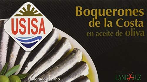Usisa - Conserva de Pescado  Boquerones en Aceite de Oliva - 5 Latas x 120 g