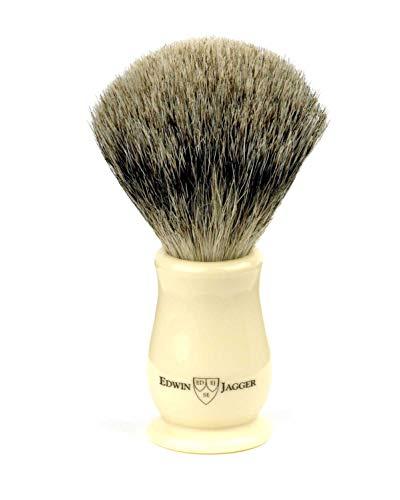 Edwin Jagger Chatsworth Imitation Ivory Best Badger Shaving Brush