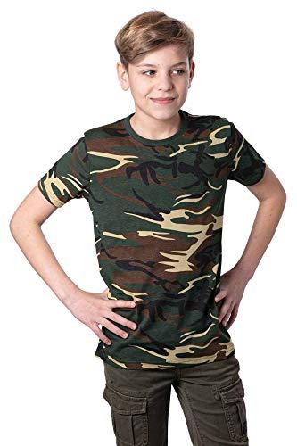 Mivaro Jungen T Shirt Camouflage, Farbe:Camouflage, Größe:146/152