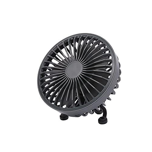 mooas Bridge LED Nightlight Car Fan, LED light, 3 wind speed, USB powered, Desk fan, Cooling air fan, 5V Mini fan, Air vent fan, Easy to clean, Ideal as car seat fan and desk fan (Charcoal Gray)
