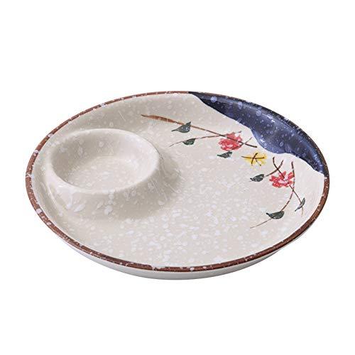 Keramische Dumpling Schaal, Azijn Schotel Soja Saus Schaal, Fruit Schaal Soaking Bowl Diner Plate Keuken Gebruiksvoorwerpen (1 stuk)