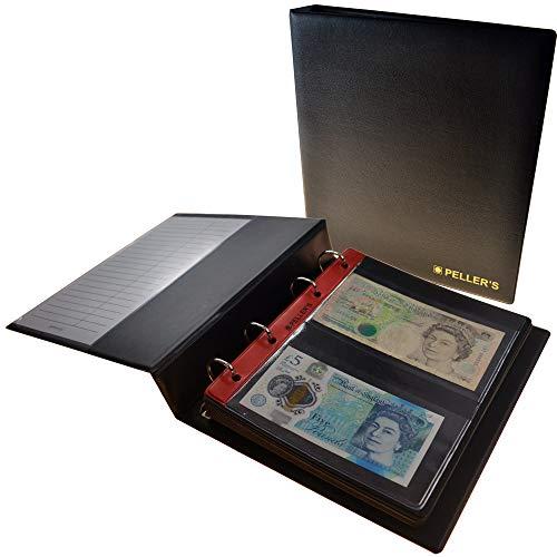 PELLER'S Álbum para 20 billetes de banco (tipo M Álbum). 10 hojas con 20 compartimentos 143mm X 80mm.