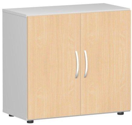 Gera Möbel kast Flex vleugeldeurkast, draaideurkast houtdecor beuken/lichtgrijs 80 x 42 x 75.2 cm