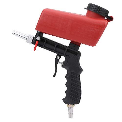 Dpofirs 90PSI Mini tragbare tragbare Sandstrahlpistole, pneumatische Sandstrahlpistole, multifunktionale Strahlmaschine, geeignet zum Sprühen von Rostentfernung ect.