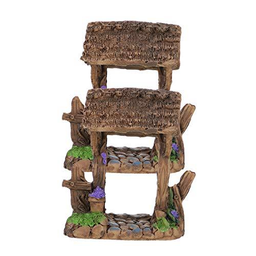 Angoily 2 Piezas de Resina Mini Puerta de Jardín Modelo Adorno de Puerta de Cobertura Muebles en Miniatura para Adorno de Jardín de Hadas Decoración de Casa de Muñecas