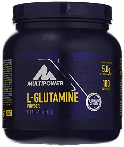 Multipower L-Glutamine Powder - Integratore Alimentare in Polvere - 5 g di L-glutammina pura per porzione - Per sostenere il sistema immunitario - Senza Glutine - Senza Aspartame - 500 g