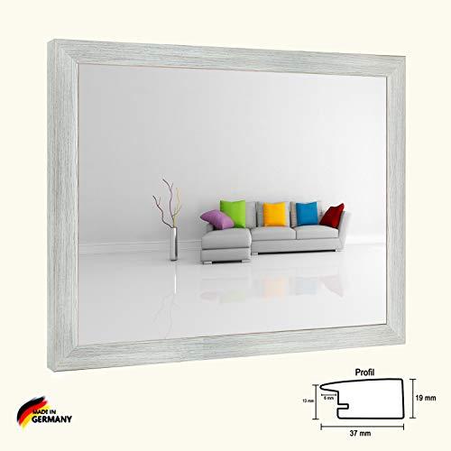 Bilderrahmen Olympia Pinie gekälkt Dekor 36 x 49 cm Puzzle modern stabil eckig hochwertig preiswert mit extra starker 2mm Antireflex Acrylscheibe