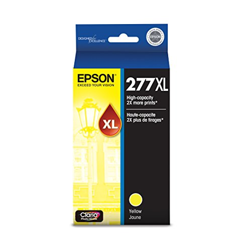 Epson T277XL420 Claria Photo Hi-Definition Yellow High Capacity Cartridge Ink