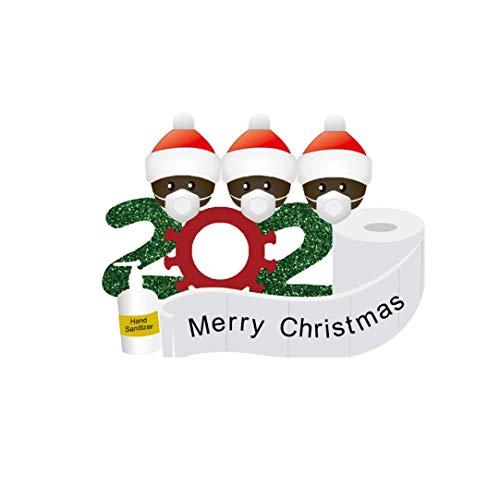 Woohooens Pegatinas Electrostáticas Pegatinas Navidad para Ventanas Extraíble PVC Feliz Navidad Pegatinas Rollo Ambiente Navideño (B)