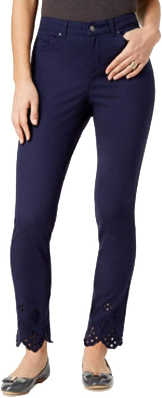 Charter Club Petite EyeletHem Skinny Jeans