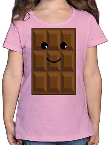 Karneval & Fasching Kinder - Partnerkostüm Schokolade - 164 (14/15 Jahre) - Rosa - F131K - Mädchen Kinder T-Shirt