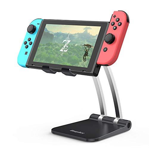 EasyAcc Soporte para teléfono celular soporte para tableta ajustable en altura en ángulo Soporte para iPad altamente estable compatible con todos los teléfonos móviles de 4-12 pulgadas Nintendo Switch
