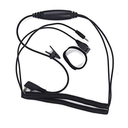 CareMont Cable de ConexióN Especial para Auriculares de Casco para Kenwood UV-5RE Walkie Talkie