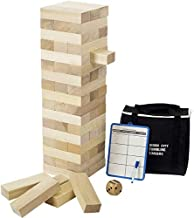 Giant Tumble Tower (Stacks to 4 Feet), Gentle Monster Large Size Wooden Timber Tower, Classic Outdoor Games for Adult Kids...
