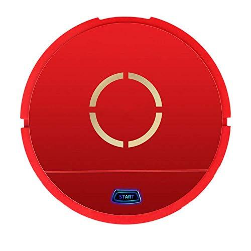 Robot de nettoyage domestique plus propre Intelligent aspirateur rechargeable Mini Lazy Robot Grand nettoyage automatique de balayage d'aspiration Machine, rouge KaiKai (Color : Red)