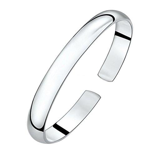 AIUIN Armband für Frauen Damen-Armreif Sterling-Silber 925 Einfach Stil Öffnung Armband, mit Einer Schmuck Tasche (Style 1)