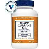 The Vitamin Shoppe Black Currant Oil 500MG, Natural Source of GLA, Promotes Healthy Skin, Women's Health (90 Softgels)