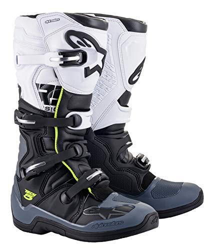 Alpinestars Men's Tech 5 Motocross Boot, Black/Dark Gray/White, 11