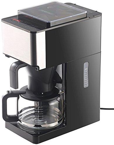 Rosenstein & Söhne Kaffeevollautomaten: Vollautomatische Filter-Kaffeemaschine, Kegelmahlwerk, Touch-Bedienung (Kaffeemaschine mit Mahlwerk)