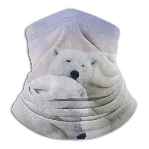 WlQshop Polar Bear Sleeping Warmer Schal Schlauchschal Bandana Stirnband For Men Women Sun UV Wind Dust Protection Skiing Riding Running