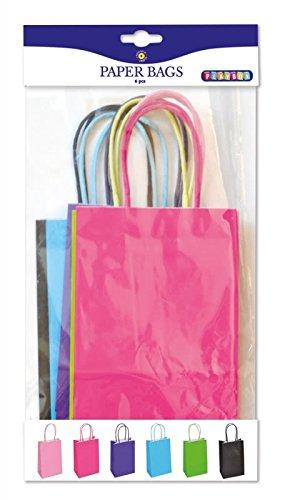 Playbox–Papier Taschen, Farbiger 210x 130mm, 6Stück, Multi