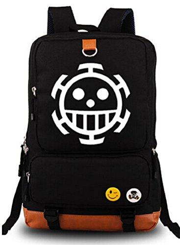 Siawasey One Piece Anime Cosplay Canvas Bookbag Backpack Shoulder Bag School Bag