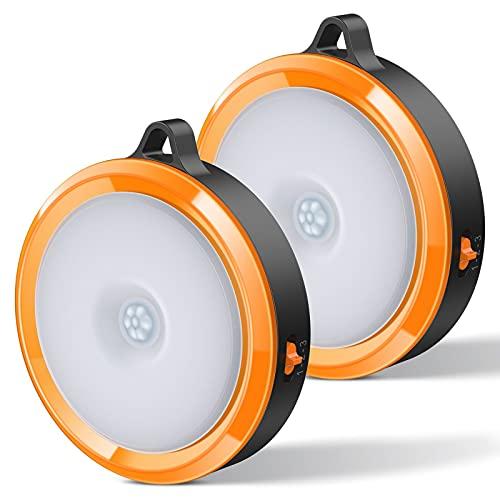 ZMNT LED Sensor Licht, LED Nachtlicht mit Bewegungsmelder, Bewegungslicht mit Batterie, Auto An/Aus Nachtlicht, Schrankleuchten, LED Bewegungsmelder für Flur, Schlafzimmer (2 Stück)